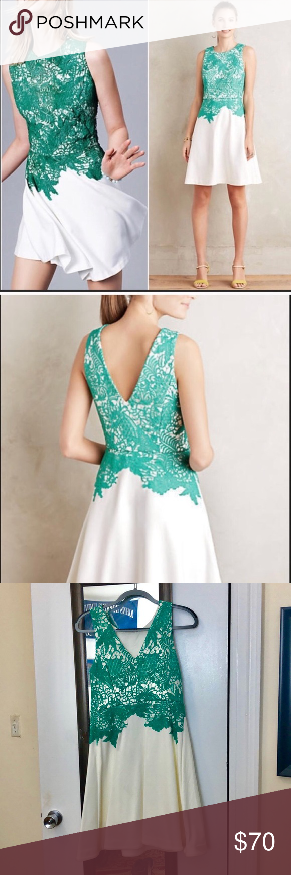 Green dress with lace overlay  Moulinette Soeurs lace overlay dressOFFERS  My Posh Picks