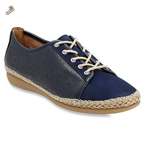 Clarks Women's Sillian Glory Blue Synthetic Sneaker 6 B (M) KJ7XZp9NxH