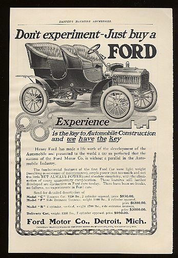 Model T Ford Automobile Advertising Built Ford Tough Vintage