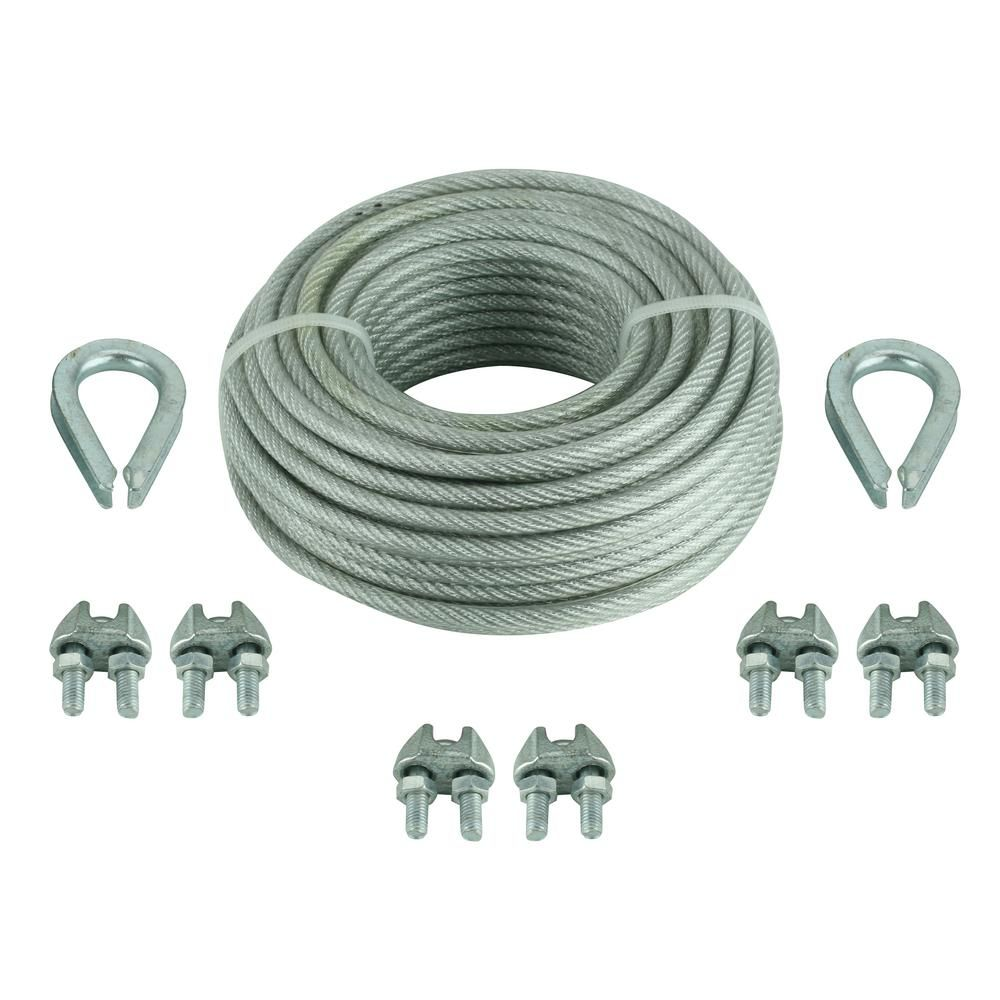 Everbilt 1/8 in. x 30 ft. Vinyl-Coated Wire Rope Kit | For Our Home ...