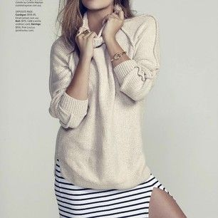 Winter options  #fashionblogger #fashionblog #love #ootd #fashion #chunkyknit #stripes #editorial #model #winter #inspiration pic via Pinte...
