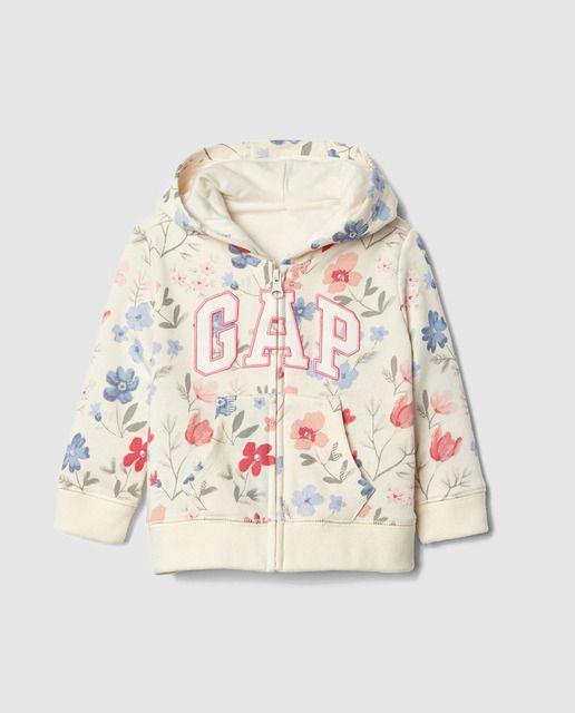 Sudadera de bebé niña Gap con flores y capucha  ce990c2fd481