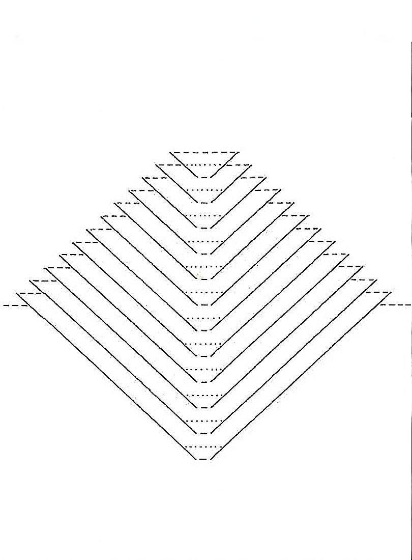 Киригами схемы архимтектуры для распечатывания треугольная