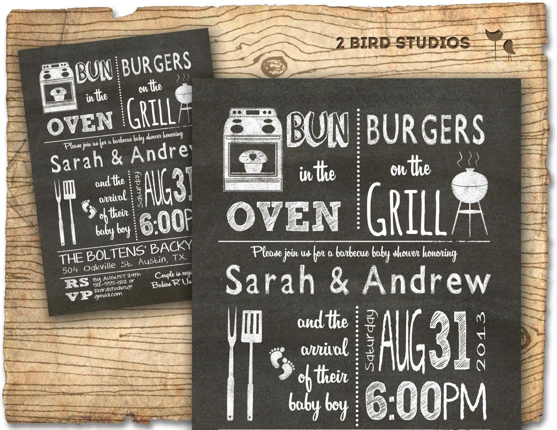 BBQ Baby shower invitation - Baby Q bbq baby shower invite - DIY ...