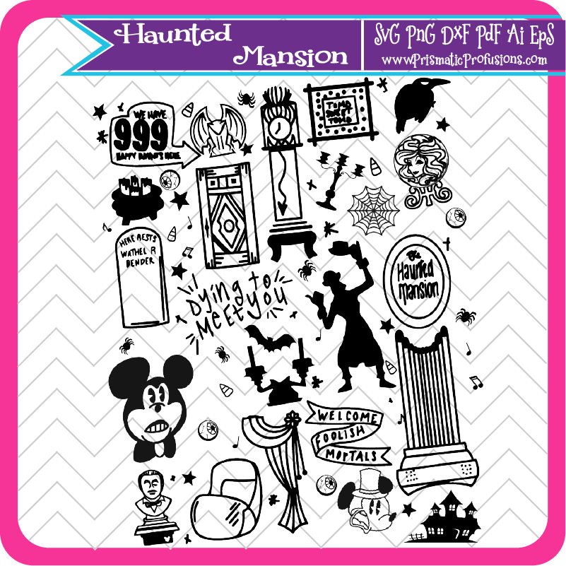 Haunted Mansion SVG, Haunted Mansion Clipart (With images