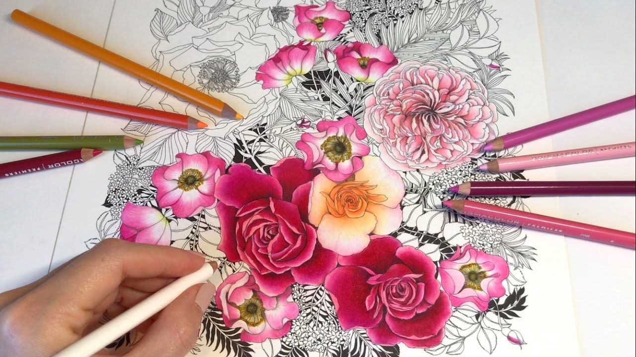 Rose Garden - Part 4: Floribunda Coloring Book | Coloring ...
