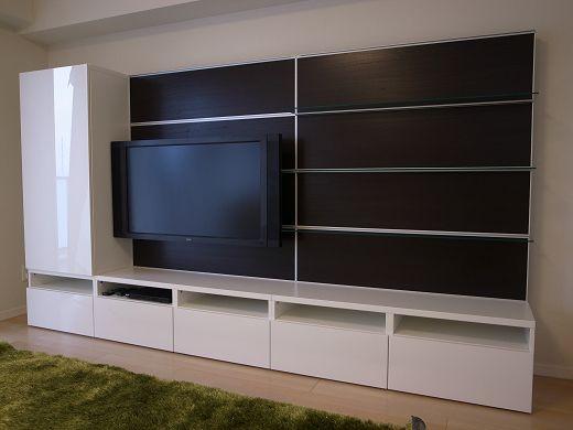 ikea tv wand home ideen. Black Bedroom Furniture Sets. Home Design Ideas