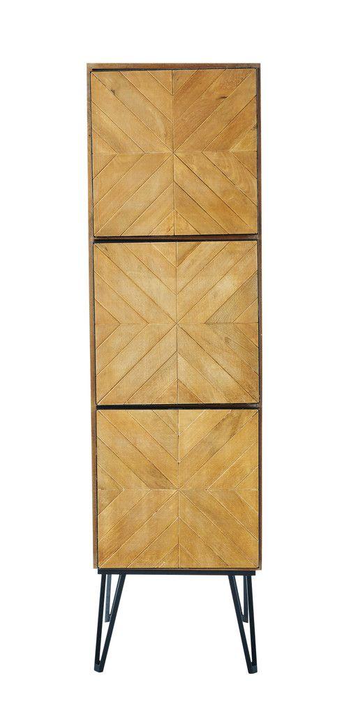 Cabinet de rangement en manguier L 48 cm