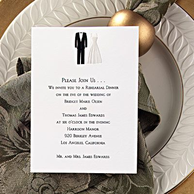 Wedding Rehearsal Dinner Invitation Wording  Wedding