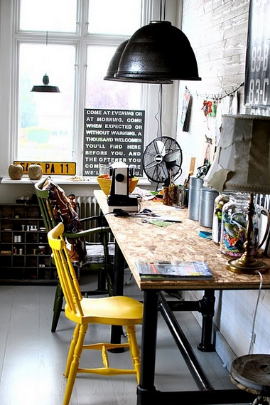 Industrial Eclectic Office Home Office Design Interior House