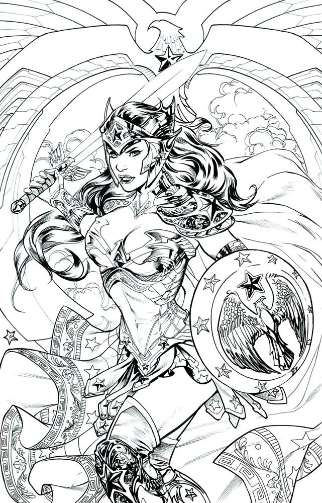 image wonder woman 48 dcu variant adult coloring book cover