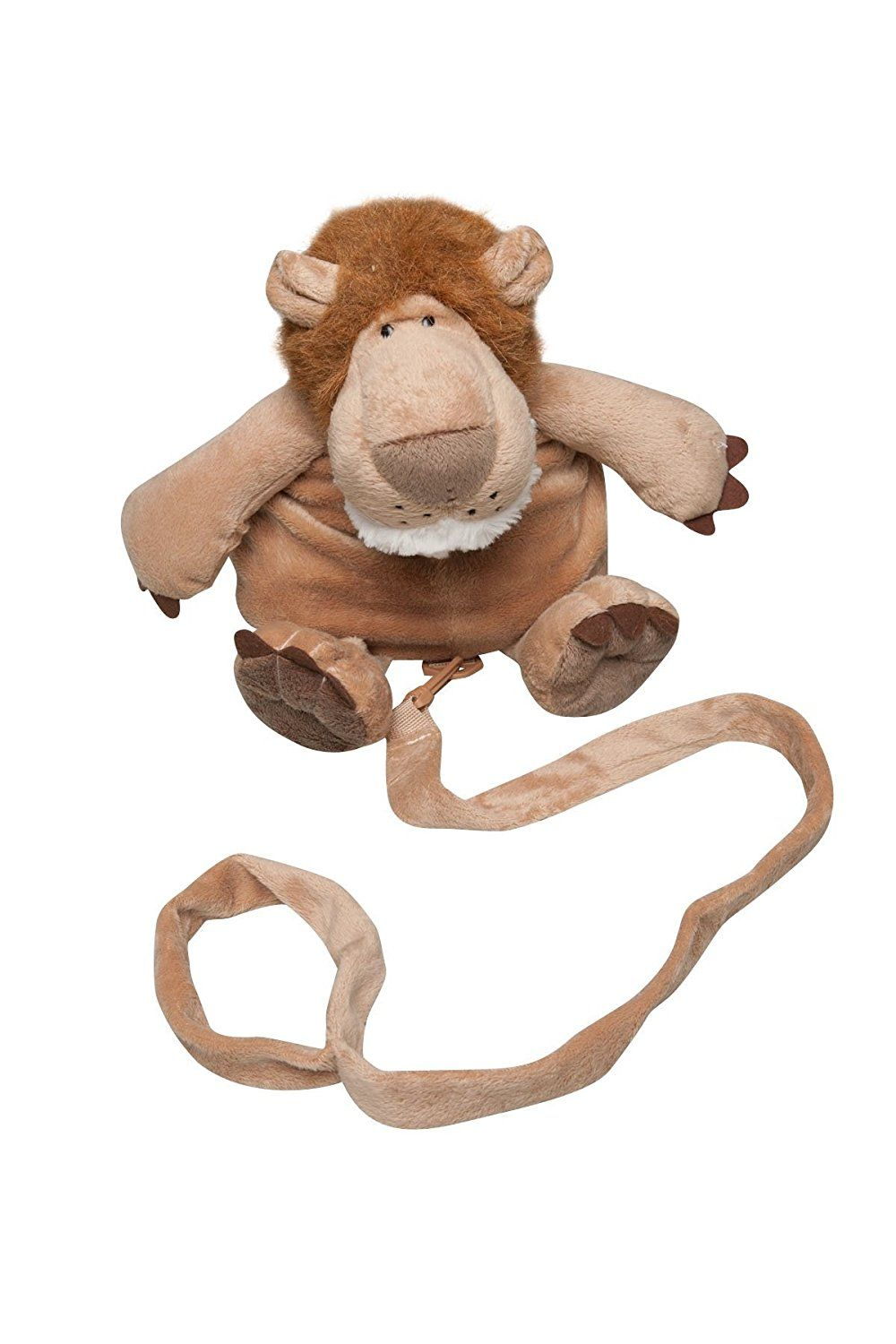 Animal 2 in 1 Harness Backpack, Lion, Brown, Child