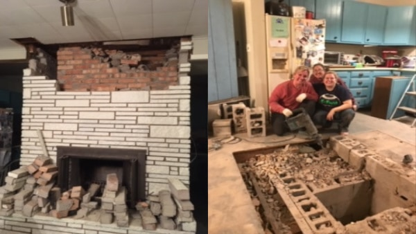 How To Remove A Brick Fireplace Yourself Brick Fireplace Brick