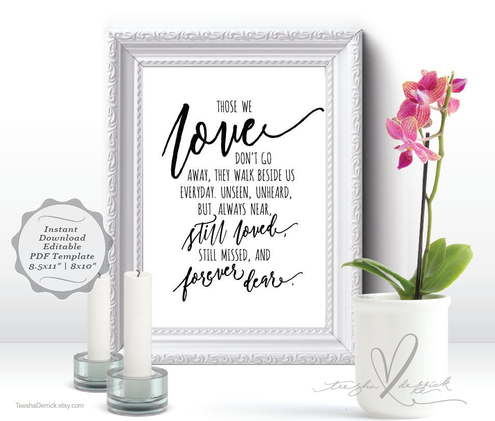 instant download printable in loving memory, wedding memorial, Powerpoint templates