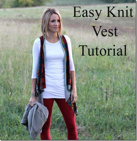 Easy Knit Vest Tutorial No Sewing Involved One Little Momma