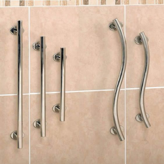 Stainless Steel Grab Rail   091329101   Grab Rails   Bath U0026 Toilet Aids    This