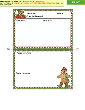 Winter Collection 2- Recipe card templates for MS Word Kitchen