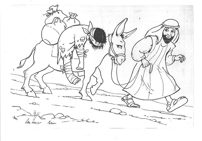 printable coloring page for parable of the good samaritan parables and teachings of jesus pinterest sunday school bible and school
