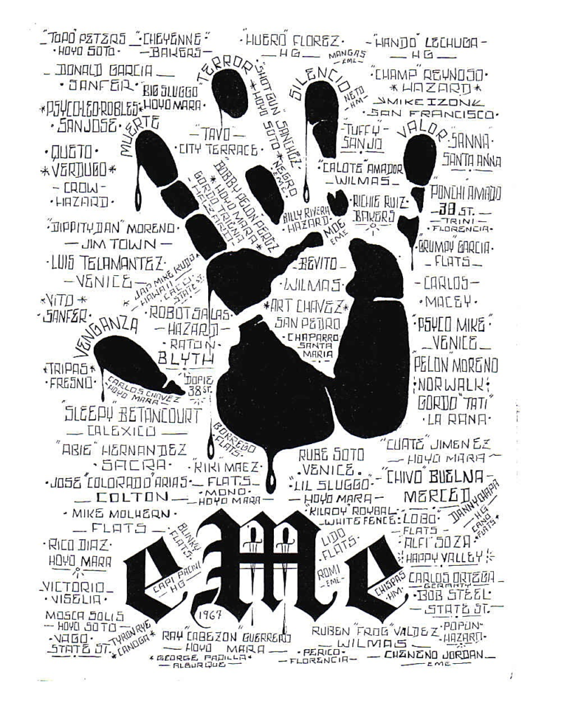 The Black Hand Of The Mexican Mafia Prison Street Gangs Com Tattoo Mafia Gang Tattoos Gang Signs