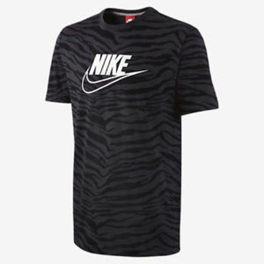 NEW NIKE MEN'S FUTURA BLACK/GREY TIGER T - SHIRT SIZE XL #Nike #