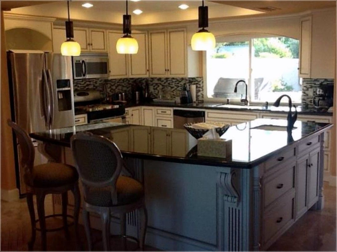 L Shaped Kitchen With Island Cost 2 Tier Kitchen Island Ideas Kitchenislandideas Freestanding Kitchen Island L Shaped Kitchen Kitchen Island Design