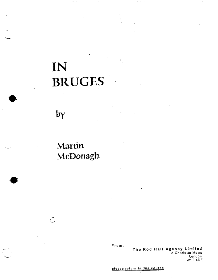 In bruges original screenplay by martin mcdonagh pdf shooting in bruges original screenplay by martin mcdonagh pdf shooting script http fandeluxe