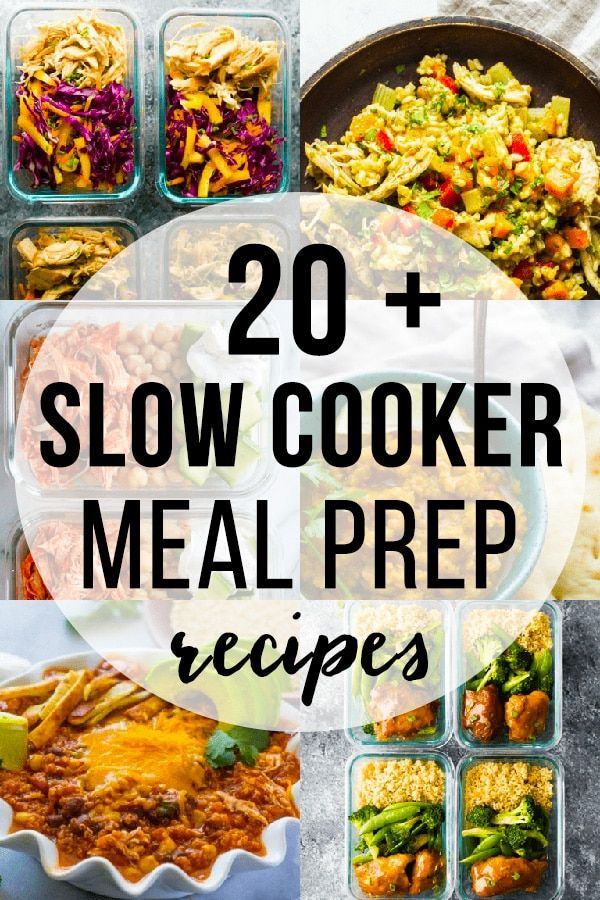 20 + Slow Cooker Recipes That are Perfect for Meal Prep #crockpotmealprep