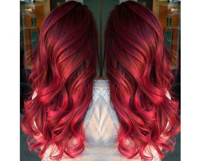 ombr hair avec cheveux rouges 21 photos absolument hallucinantes tendances coiffures. Black Bedroom Furniture Sets. Home Design Ideas