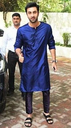 Looking for the blue kurta that Ranbir Kapoor is wearing ...