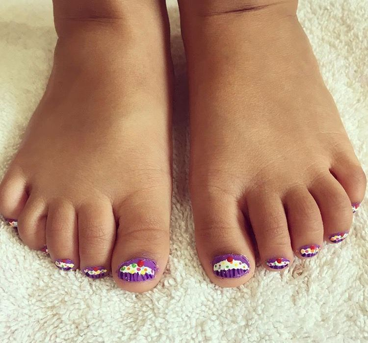 Toddler Nail Art For Arlynn By Mmmy Cuppycake Toes Nail Art