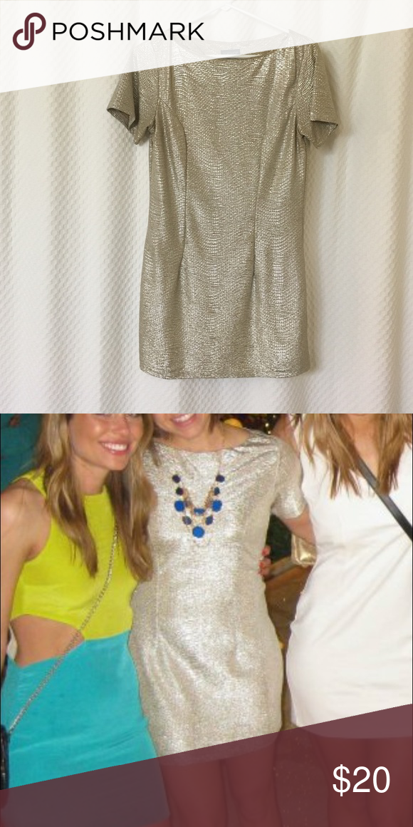 Top shop Light gold dress. Great condition! Topshop Dresses Mini