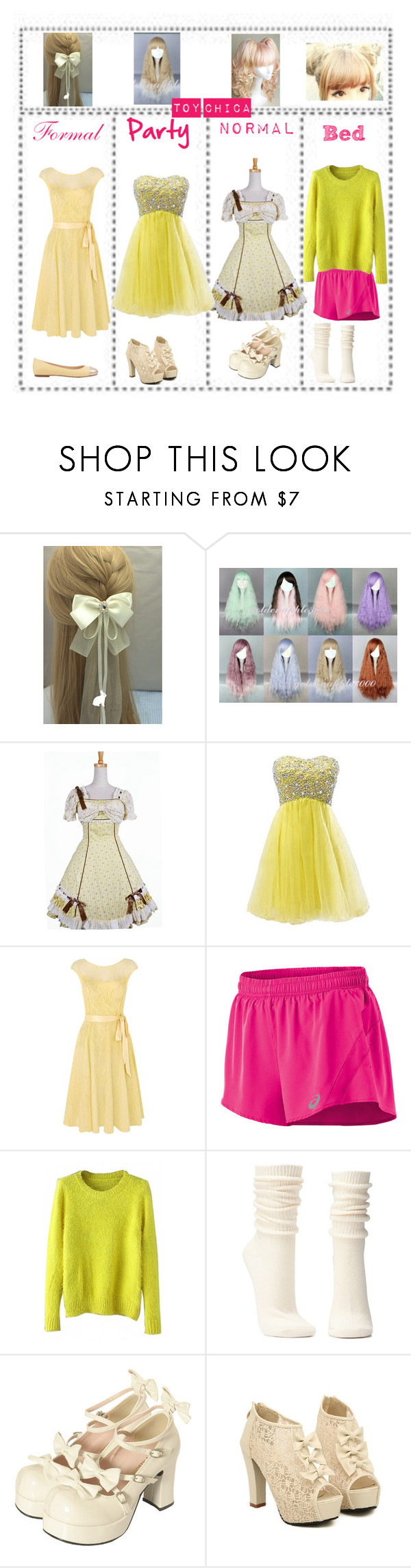 """""""Toy Chica"""" by meep1213 ❤ liked on Polyvore featuring Kaliko, Asics, Charlotte Russe, Bodyline and ANNA BAIGUERA"""