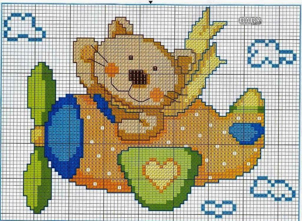 Graficos punto de cruz gratis baberos cenefas toallas para bebe 69 esquemas infantiles a - Cenefas punto de cruz para toallas de bano ...