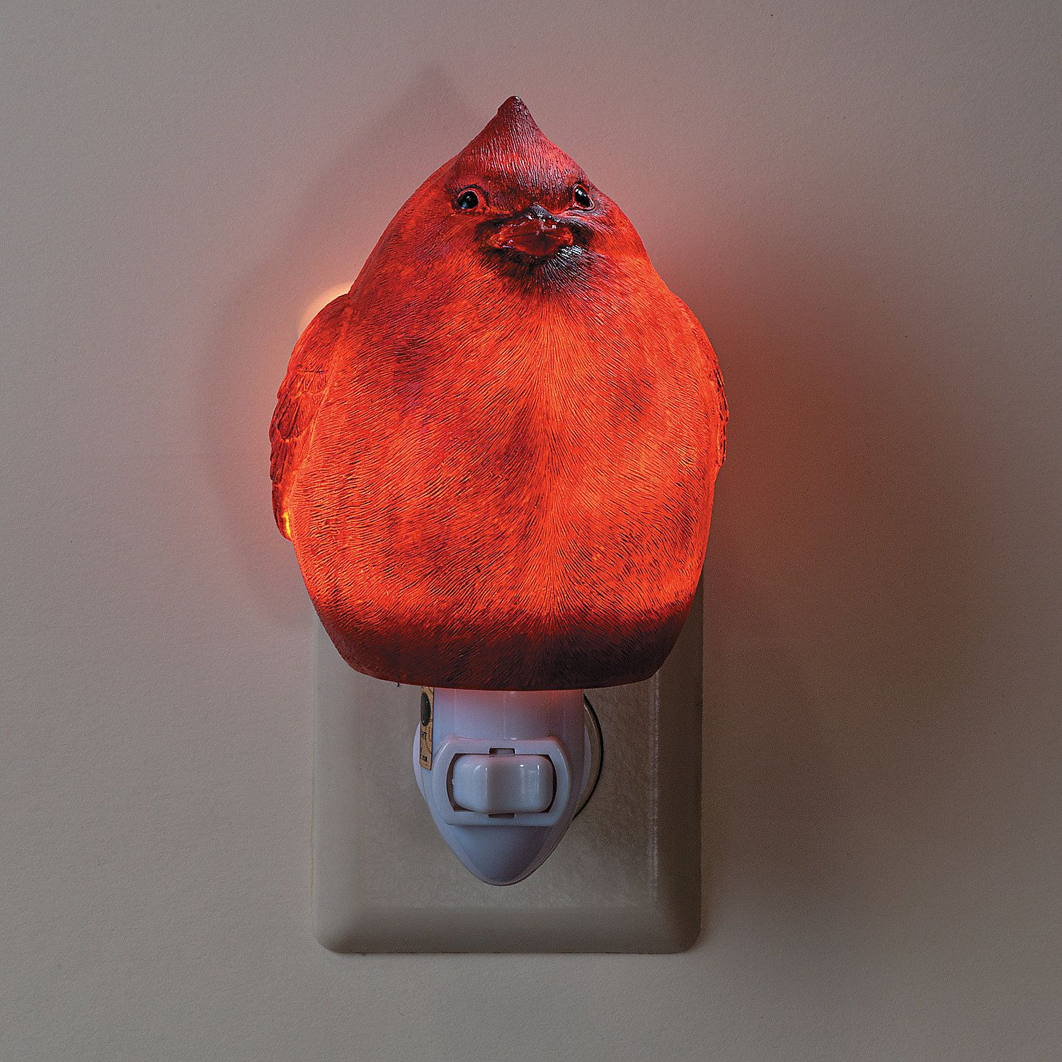 This Plump Cardinal Night Light Is Ready To Light Your Way