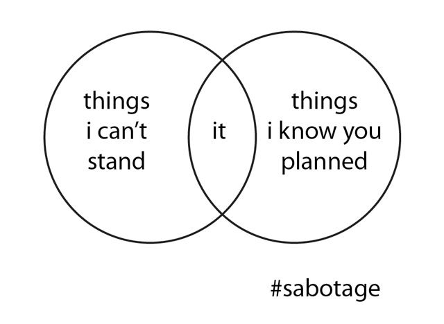 venn diagram of sabotage by beastie boys