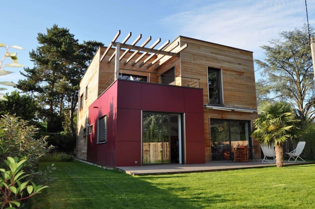 Vue projetée de la maison moderne häuser von helene lamboley architecte dplg
