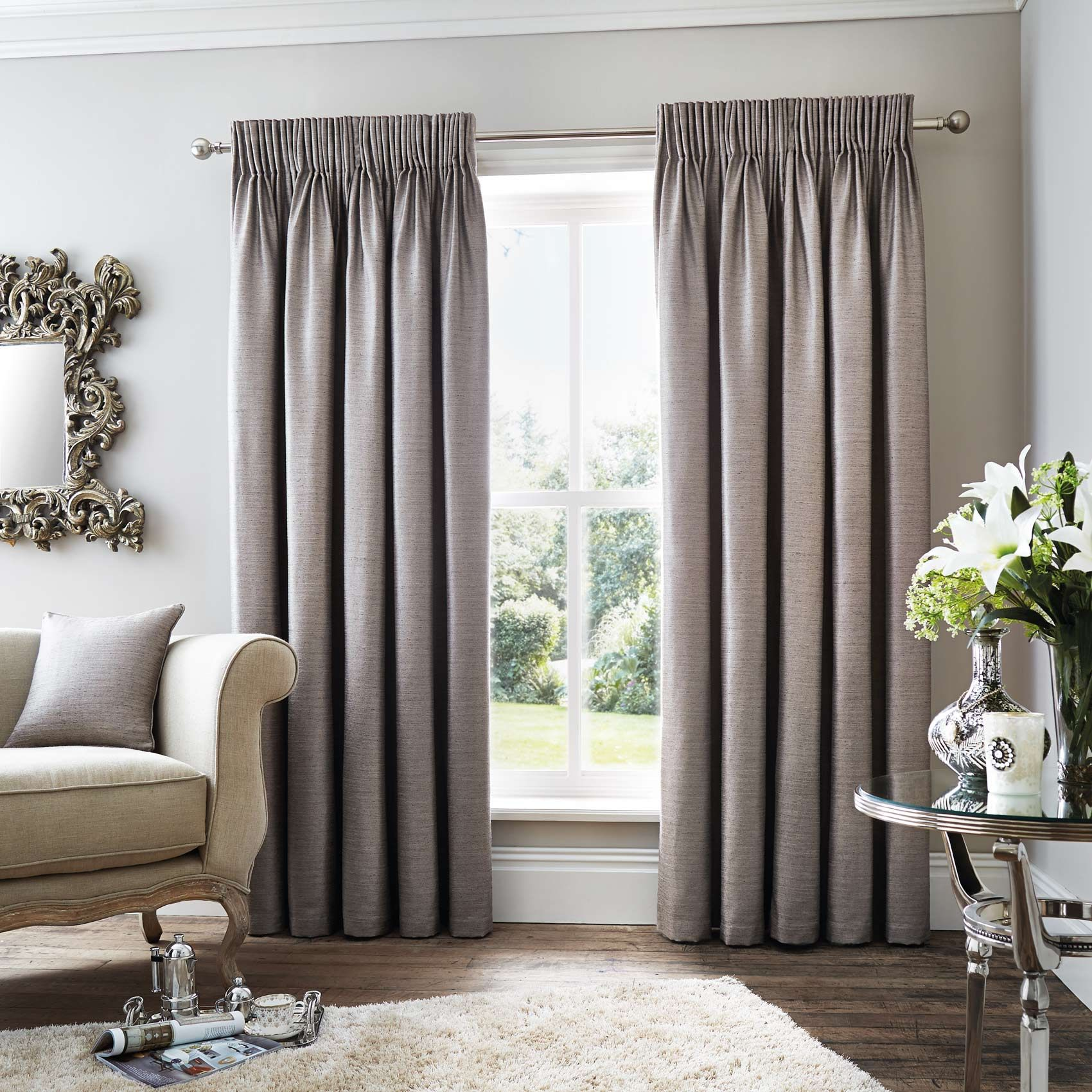 Rimini Lined 6 Pencil Pleat Curtains