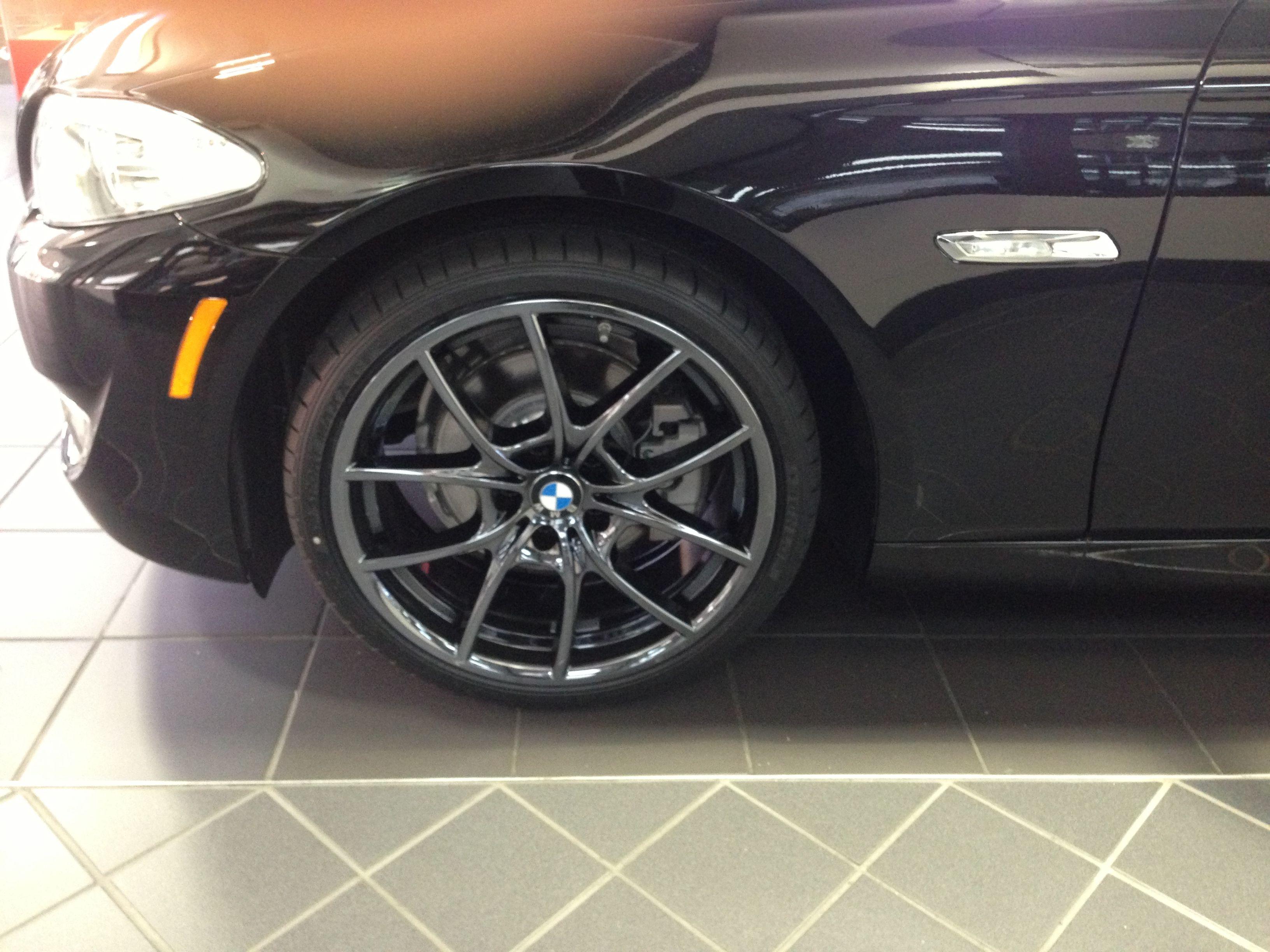 Black Chrome Wheels On A 5 Series Joe Flow Bmw Black