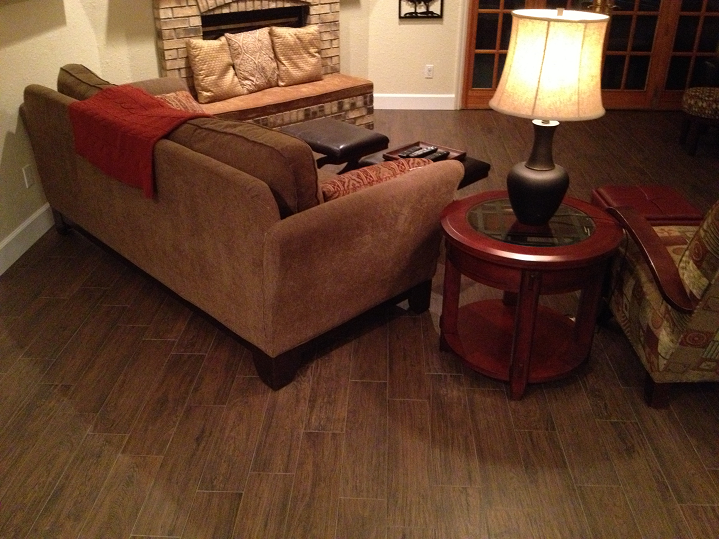 Tampa Florida Porcelain Quot Wood Look Quot Plank Tile Install