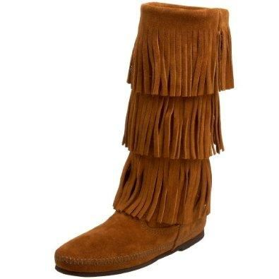 Minnetonka Women's 3-Layer Fringe Boot: Shoes