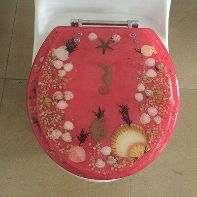 Excellent Daniels Bath Sea Treasure Elongated Toilet Seat Home Decor Short Links Chair Design For Home Short Linksinfo