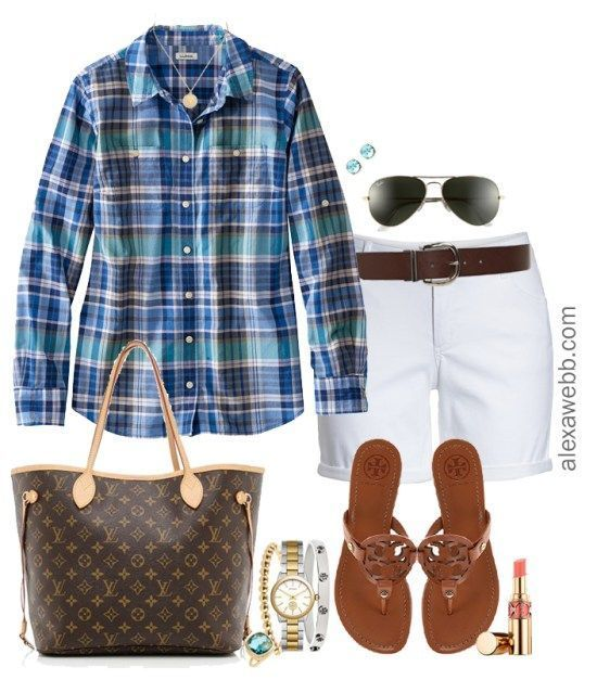 Plus Size White Shorts Outfits