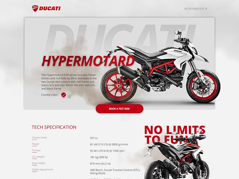 Ducati Hypermotard Tech Langing Page Ducati Hypermotard Ducati Tech