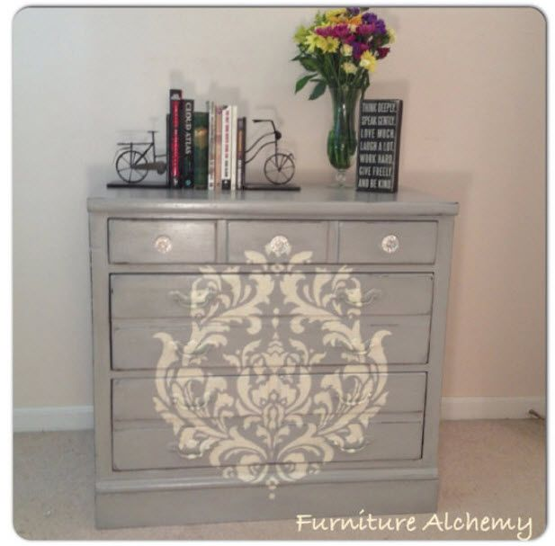 Chest of Drawer Makeover by Furniture Alchemy - Featured On Furniture Flippin'