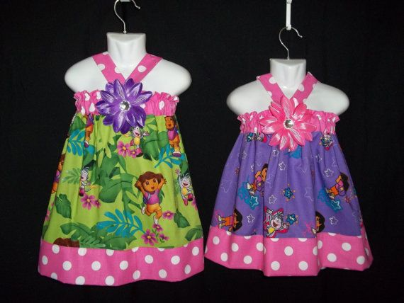 Dora+Explorer+dress+outfit++first+Birthday+Party+by+GinaBellas1,+$39.50