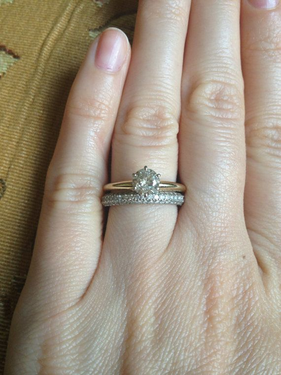 Sale Solitaire 70 Carat Diamond Engagement Ring In 10 Kyg Etsy Round Diamond Engagement Rings Solitaire Diamond Engagement Rings Engagement Rings