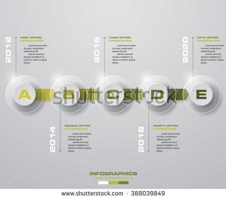 Timeline infographic 5 steps vector design template Can be used - timeline website template