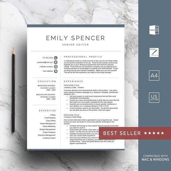 Professional resume template for Word \ Pages Get a head start on - resume start