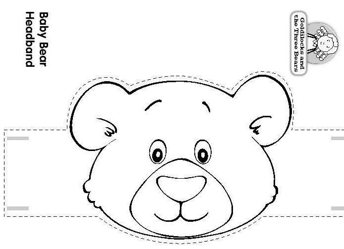Postpic 2012 06 teddy bear headband craft for Polar bear face template