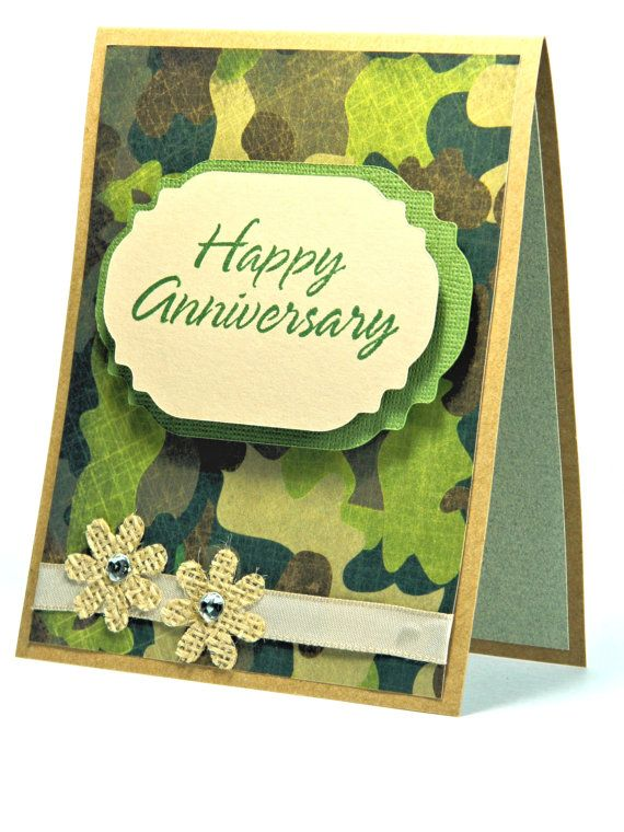 Anniversary Cards Camo Greeting Card Hunting Couple Etsy Homemade Anniversary Cards Anniversary Cards Anniversary Greeting Cards